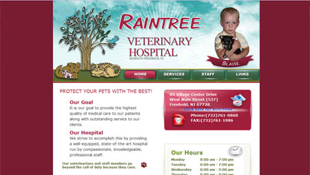 <i>Veterinarian from Freehold NJ: <a href='portfolio.html#rtv'>Raintree Vet</a></i>