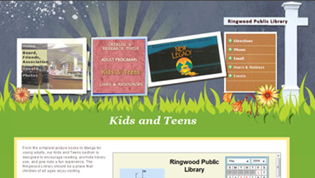 Kid's Page, Ringwood Library Website